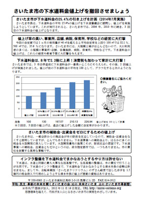 さいたま市革新懇作製のチラシ(PDF)