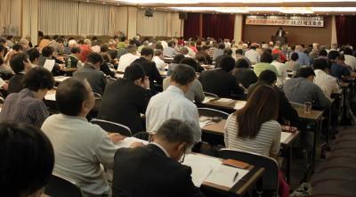「戦争する国」ストップの運動を学習、議論した集会=2014年10月21日、さいたま市