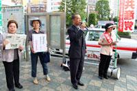 5月21日、川越駅東口で