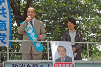6月5日、北本駅前