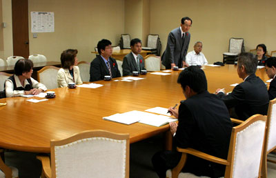 鳩ヶ谷市の水害対策について県に要望